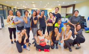 a group fiteness class at Harris Fitness